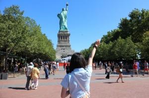 自由の女神と自由な女神