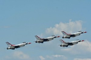 Thunderbirds formation takeoff-5443