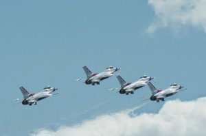 Thunderbirds formation takeoff-5454