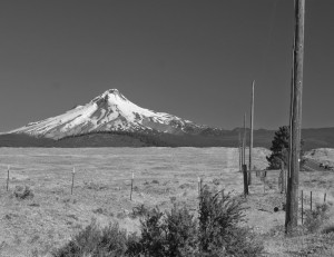 Mt Hood-Warm Springs Indian Reseravationより-7542-BW