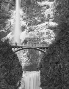 Multnomah Falls-5052-BW