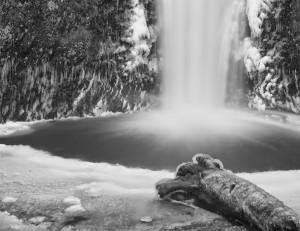 Multnomah Falls-5064-BW