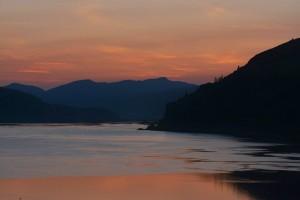 Columbia Riverの夕焼け - Mosierより-9112