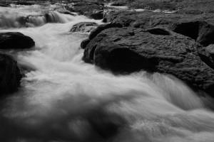 Lower Lewis River Falls-3923-BW