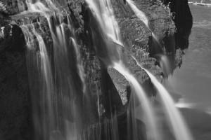 Lower Lewis River Falls-3927-BW