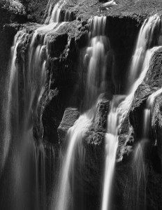 Lower Lewis River Falls-3941-BW