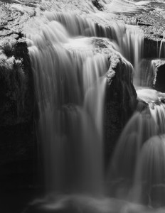 Lower Lewis River Falls-3947_-BW