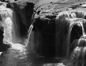 Lower Lewis River Falls-3960-BW