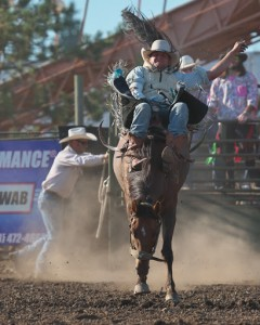 McMinnville Rodeo-Bareback Riding-4212