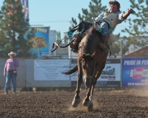 McMinnville Rodeo-Bareback Riding-4214