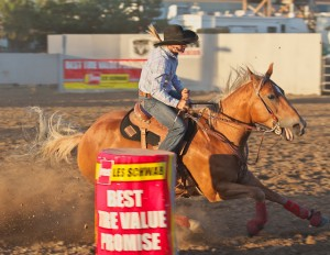 McMinnville Rodeo-Barrel Racing-4560