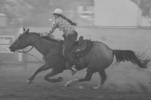 McMinnville Rodeo-Barrel Racing-4615-BW