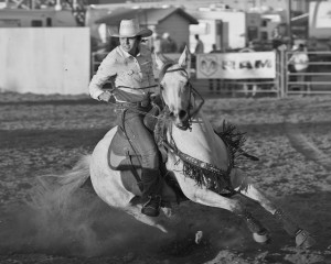 McMinnville Rodeo-Barrel Racing-4636-BW