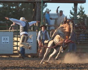 McMinnville Rodeo-Saddle Bronc Riding-4391