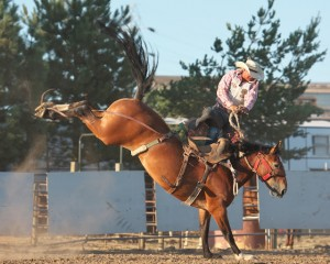 McMinnville Rodeo-Saddle Bronc Riding-4424