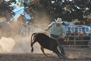 McMinnville Rodeo-Tie Down Roping-4265