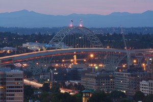 Fremont Bridgeの夜景_4786