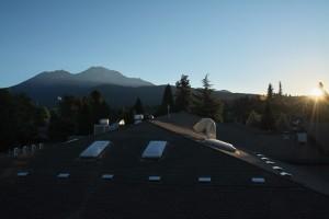 Mt Shasta - Best Western Hotelより-日の出-6252-1