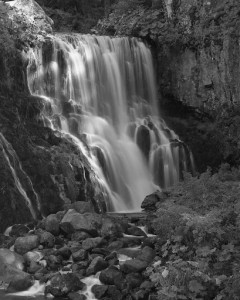 Mt Shasta - Middle McCloud Falls-5784-BW
